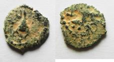 Ancient Coins - Herod Archelaus AE HALF Prutah, . 4 B.C.E. - 6 C.E.