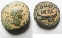 Ancient Coins - A Real Beauty:  Phoenicia. Dora under Trajan. (AD 98-117). AE 16mm, 3.16g. Struck in civic year 175 (AD 111/12).
