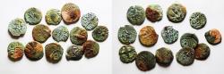 Ancient Coins - LOT OF 14 JUDAEAN BRONZE PRUTOT