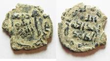 Ancient Coins - ORIGINAL DESERT PATINA. UMMAYYED AE FALS.