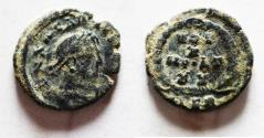 Ancient Coins - ROMAN IMPERIAL. Arcadius (AD 383-408) AE  nummus (12mm, 1.18g). Alexandria mint.