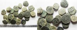 Ancient Coins - AS FOUND: LOT OF 25 ANCIENT JUDAEAN PRUTOT COINS