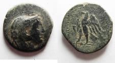 Ancient Coins - PTOLEMAIC KINGS of EGYPT. Ptolemy II Philadelphos. 285-246 BC. Æ Obol
