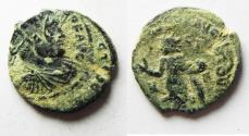 Ancient Coins - OVER-STRUCK. LICINIUS I AE FOLLIS