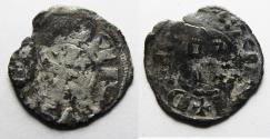 World Coins - DAVID'S TOWER: Crusaders, Latin Kingdom of Jerusalem. Baldwin III (1143-1163). BI Denier