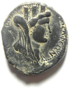 Ancient Coins - DECAPOLIS , PHILADELPHIA (MY HOME CITY) , DOMITIAN AE 26 , REALLY EXCEPTIONAL !!!!!!!!