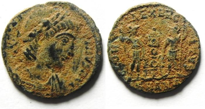 Ancient Coins - ROMAN AE 3 AS FOUND
