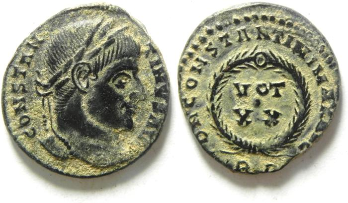 Ancient Coins - CONSTANTINE I AE 3 , NICE DESERT PATINA