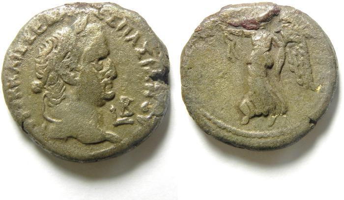 Ancient Coins -  EGYPT , ALEXANDRIA , VESPASIAN BILLON TETRADRACHM