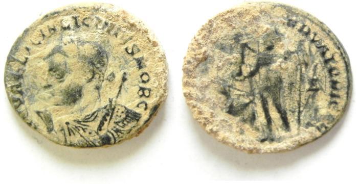 Ancient Coins - BEAUTIFULL LICINIUS II AE FOLLIS , AS FOUND