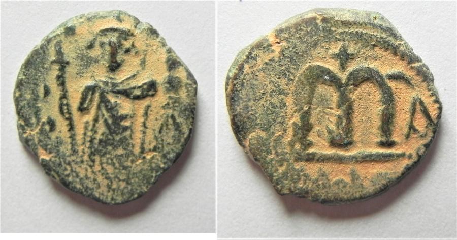 World Coins - ISLAMIC. Umayyad Caliphate. Arab-Byzantine series. AE fals