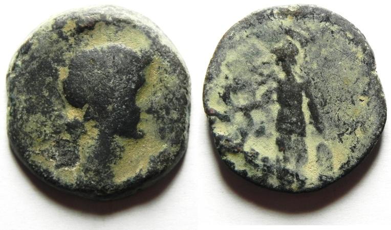 Ancient Coins - Roman Provincial. Egypt. Alexandria under Augustus (27 BC-AD 14). AE diobol (23mm, 8.03g). LIVIA