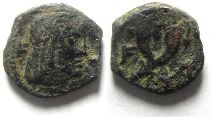Ancient Coins - NABATAEAN CIN , RARE SYLLAEUS AE 13