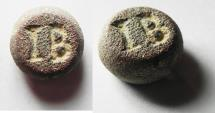 Ancient Coins - LATE ROMAN BRONZE WEIGHT OF 12 SCRIPULA - 12.75GM. VERY RARE