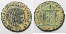 Ancient Coins -  Divus Constantius I (died, AD 306). AE follis (24mm, 5.46g). Aquileia mint. Struck under Constantine I