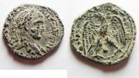 Ancient Coins - CHOICE SILVER TETRADRACHM. ELAGABALUS. ANTIOCH. AS FOUND