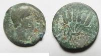 Ancient Coins - EGYPT. ALEXANDRIA UNDER AUGUSTUS (27 BC-AD 14). AE DIOBOL (25MM , 11.71G). CORN BUNDLE