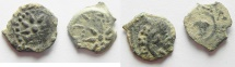 Ancient Coins - Judaea, Alexander Jannaeus, 103-76 BC, LOT OF 2 AE Prutot. WIDOW'S MITES