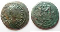 Ancient Coins - BYZANTINE EMPIRE. ANASTASIUS AE FOLLIS