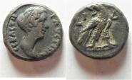 Ancient Coins - Egypt. Alexandria under Faustina Junior (Augusta, AD 147-175). Billon tetradrachm (22mm, 13.17g)