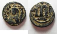 Ancient Coins - ARAB-BYZANTINE. AE FALS. EMISA MINT. ضرب حمص