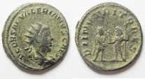 Ancient Coins - VALERIAN II BILLON ANTINONIANUS. BEAUTIFUL AND SCARCE