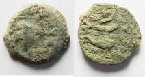 Ancient Coins - NICE AS FOUND JEWISH REVOLT AE PRUTAH . YEAR 2