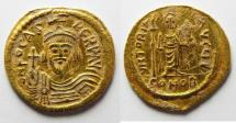 Ancient Coins - BYZANTINE . Phocas. 602-610. AV Solidus. Constantinople.