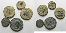 LOT OF 5 ROMAN AE COINS