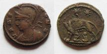Ancient Coins - CONSTANTINE I AE 3 . COMMEMORATIVE ISSUE WITH Romulus and Remus & SHE-WOLF