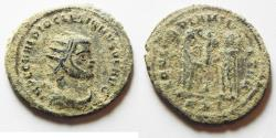 Ancient Coins - ORIGINAL DESERT PATINA. HIGH QUALITY. DIOCLETIANUS AE ANTONINIANUS