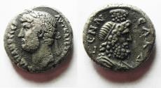 Ancient Coins - EGYPT. ALEXANDRIA. HADRIAN BILLON TETRADRACHM