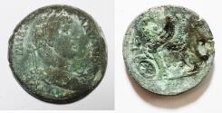 Ancient Coins - EGYPT. ALEXANDRIA. HADRIAN AE DRACHM. SPHINX