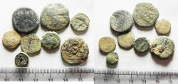 Ancient Coins - AS FOUND: LOT OF 8 ANCIENT GREEK BRONZE COINS