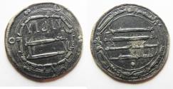 Ancient Coins - ISLAMIC . ABBASID SILVER DERHIM. 165 A.H