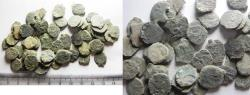 Ancient Coins - AS FOUND: LOT OF 61 ANCIENT JUDAEAN WIDOW'S MITE COINS