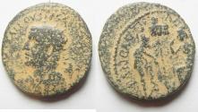Ancient Coins - Samaria. Neapolis under Trebonianus Gallus (251-253 CE). AE 23mm