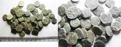 Ancient Coins - AS FOUND: LOT OF 50 ANCIENT JUDAEAN PRUTOT COINS
