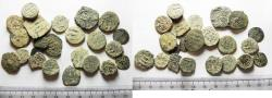 Ancient Coins - LOT OF 23 ANCIENT BRONZE ISLAMIC COINS. SOME SILVER