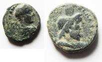 Ancient Coins - JUDAEA, Caesarea Maritima?. Elagabalus?? . 218-222 CE. Æ 21