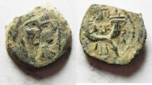 Ancient Coins - ORIGINAL DESERT PATINA: NABATAEAN KINGDOM. MALICHUS II AE 17