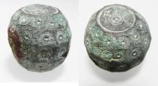 Ancient Coins - BYZANTINE / EARLY ISLAMIC BRONZE WEIGHT. 600 - 800 A.D.  142.90GM = 5 UNCIA OR 50 DIRHAMS