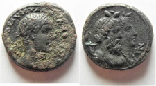 Ancient Coins - BEST EXAMPLE AROUND:  Egypt. Alexandria under Severus Alexander ( AD 222-235). Billon tetradrachm (24mm, 11.74g). Struck in regnal year 7 (AD 227/8).