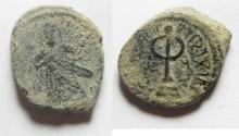 Ancient Coins - ARAB - BYZANTINE. AE FILS. AMMAN MINT