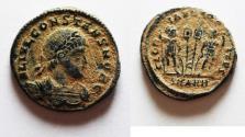 Ancient Coins - BEAUTIFUL CONSTANS AE 3 . ORIGINAL DESERT PATINA