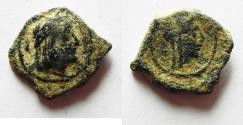 Ancient Coins - NABATAEAN KINGDOM. AS FOUND. SYLLAUES AE 14