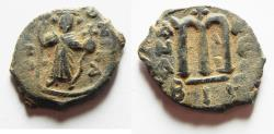 Ancient Coins - BYZANTINE. CONSTANS II AE FOLLIS. NICE