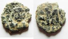 Ancient Coins - BYZANTINE.Constans II AD 641-668.AE.Follis.