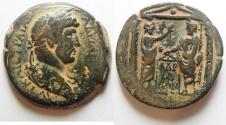 Ancient Coins - BEAUTIFUL & VERY ATTRACTIVE : EGYPT. ALEXANDRIA. HADRIAN AE DRACHM