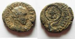 Ancient Coins - JUDAEA. CAESAREA. Trebonianus Gallus AE 24